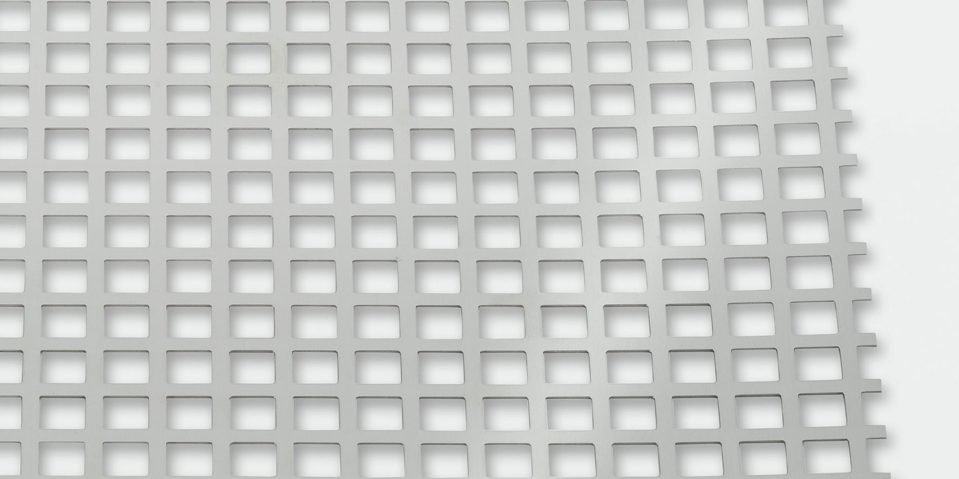 Sheet with square perforations